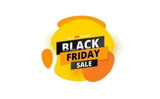 banner di vendita venerdì nero con arte fluida astratta su bianco