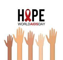 campagna mondiale contro l'AIDS con le mani