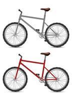 biciclette isolate su bianco vettore