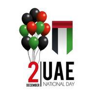 celebrazione degli Emirati Arabi Uniti del banner della giornata nazionale