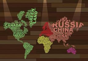 Illustrazione di Word Map vettore
