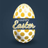 poster di uova di Pasqua con motivo a punti d'oro