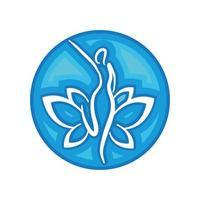 icona della donna di benessere e terapia
