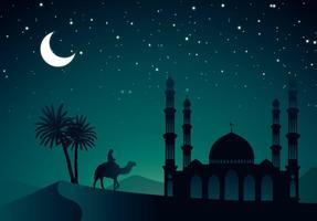 vettore notte araba