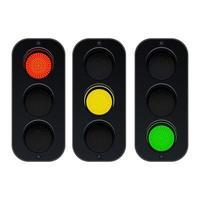 semafori isolati su sfondo bianco vettore