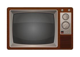 vecchia televisione vintage vettore