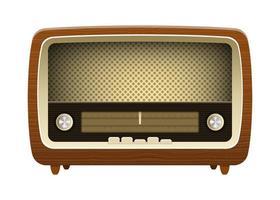vecchia radio vintage vettore