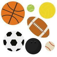 set di palline sportive vettore