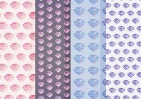 Vector Acquerello Diamond Patterns