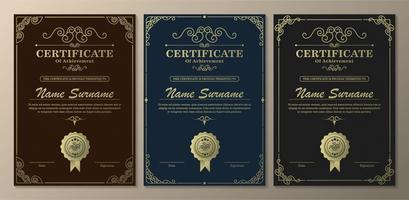certificato verticale scuro di modelli di successo