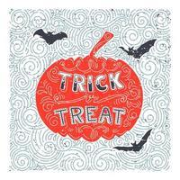 disegno di zucca di halloween disegnato a mano
