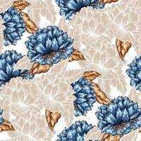 seamless peonie grafiche pattern