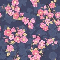 sakura bloom seamless pattern vettore