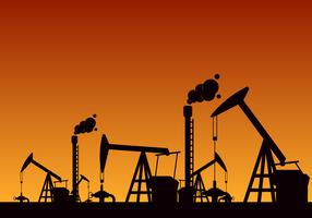 Vettore gratuito campo petrolifero