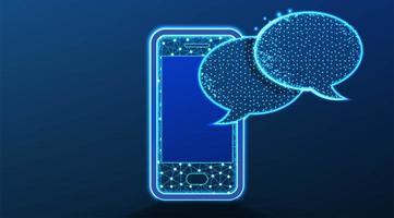 telefono e chat discorso bolla concetto di comunicazione vettore