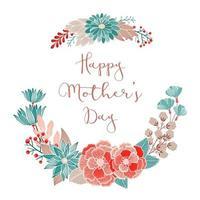 felice festa della mamma biglietto di auguri floreale