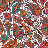 motivo colorato paisley tribale vettore
