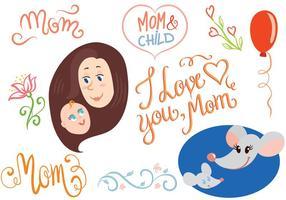 Vettori gratuiti per i bambini di madre