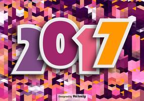 Felice anno nuovo 2017 sfondo vettore