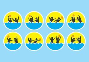 Icone di pallanuoto vettore