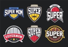Super mamma Badge