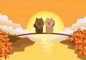 Illustrazione di Pomeranian gratis
