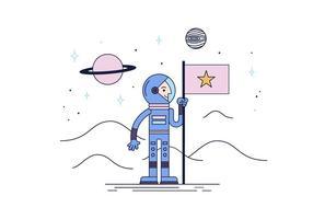 Astronaunt Vector gratuito