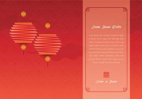 Illustrazione di modello di matrimonio cinese