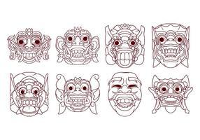 Barong Mask Vector gratuito