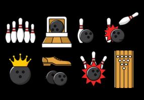 Illustrazione di vettore del vicolo di bowling