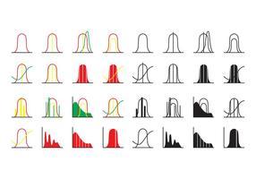 Vettore libero dell'icona della curva di distribuzione