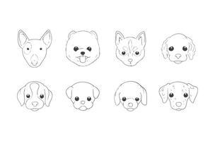 Vettore della testa di cane del disegno della mano libera