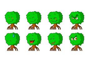 Vettore libero del Emoticon della mangrovia del fumetto
