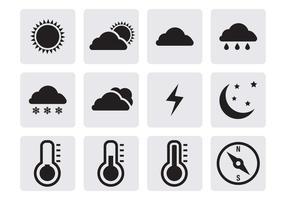 Vettore delle icone del tempo
