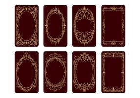 Vettore di progettazione della parte posteriore della carta di tarocchi