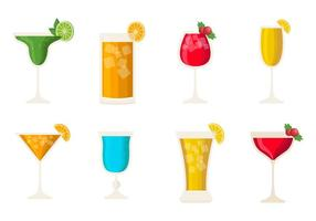 Vettore delle bevande dell'alcool del cocktail