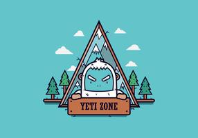 Distintivo di vettore gratuito Yeti