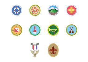 Vettore libero del distintivo di Boy Scouts