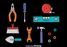 Insieme di vettore degli strumenti di riparazione domestica