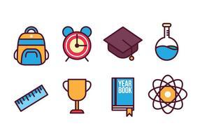 Set di icone di scuola gratis