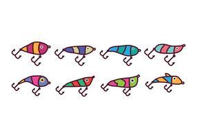 Set di icone di richiamo di pesca gratis vettore