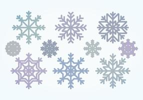 raccolta di fiocchi di neve vettoriale