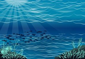 Vettore di fondali marini