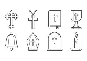 vettore icona cristiana