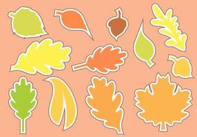 Die Cut Autumn Shape Vector