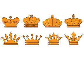 Corona di lusso di spettacolo vettore