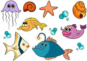 Vettori di pesci carini gratis