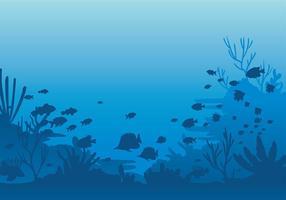 Vettore libero del fondale marino