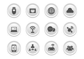 Connessione gratuita icone vettoriali