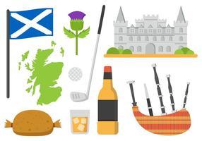 Illustrazione di vettore degli elementi della Scozia